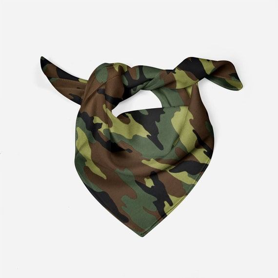 Personalized gift hunting dog Dog Bandana Camo Mossy Oak Over the Collar