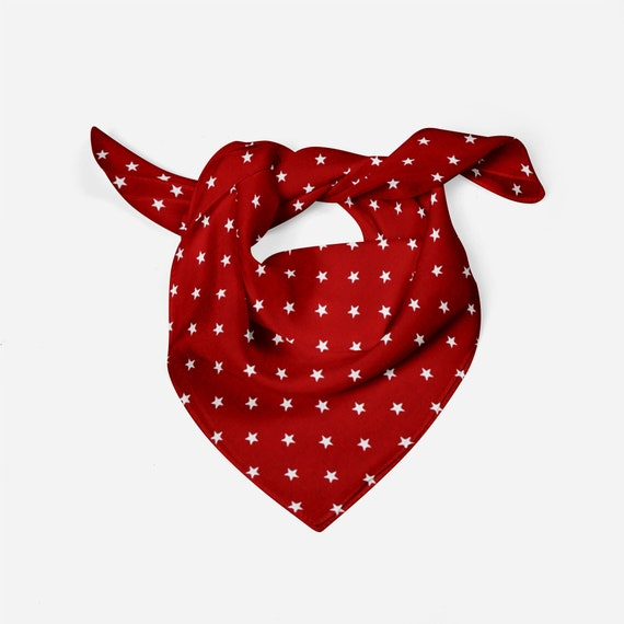 Red /& White Stars Dog Bandana