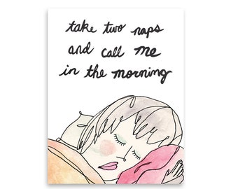 Thinking of You Greeting Card / Funny Card / Friend in Need / Friendship Card / Encouragement Card / Mishka Marie