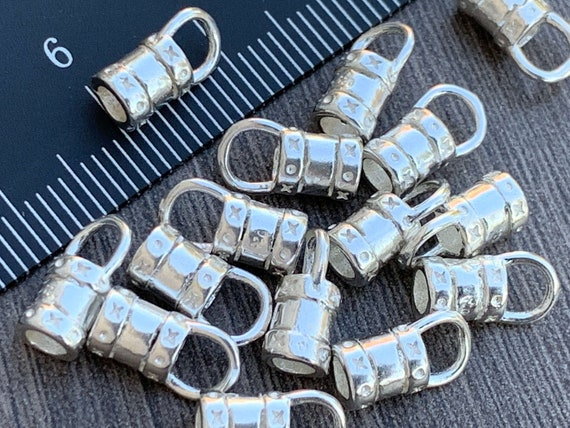 STERLING SILVER 925 from 1mm to 10mm CRIMP ENDS for chains or bracelets
