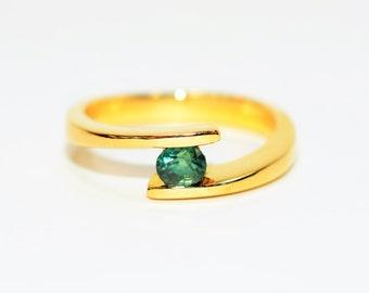 Alexandrite .51ct 18kt Yellow Gold Floating Gemstone Women's Ring