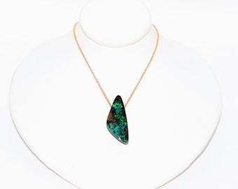 Australian Boulder Opal 26.58ct 14kt Rose Gold Pendant Women's Necklace