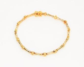 Diamond .60tcw 14kt White & Yellow Gold Tennis Women's Bracelet