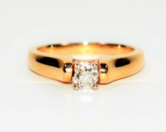GIA Certified Old Mine Cut Diamond .53ct 14kt Yellow Gold Solitaire Engagement Women's Ring