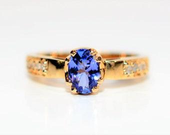 Tanzanite & Diamond .97tcw 14kt Yellow Gold Women's Ring
