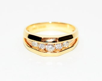 Diamond .87tcw 14kt Yellow Gold Pave Cluster Statement Men's Ring