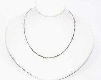 """14kt White Gold 20"""" 5.4 Grams 1.25mm Braided Wheat Chain Necklace"""