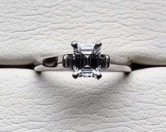 IGI Certified Diamond 1.02ct 14kt White Gold & Platinum Engagement Women's Ring