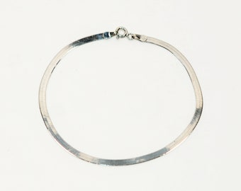 18kt White Gold 2.75mm Snake Chain Fine Link Bracelet