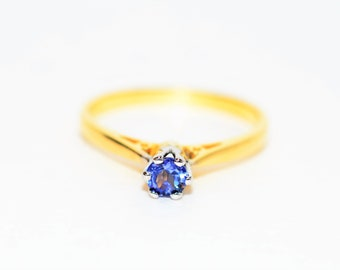 Benitiote .36ct 14kt Yellow & White Gold Solitaire Engagement Women's Ring