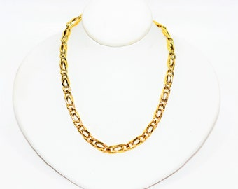 """14kt Yellow Gold 25"""" 4.50mm 16.3 Grams Extra Long Curb Chain Necklace"""