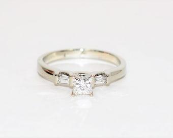 Diamond .64tcw 14kt White Gold Statement Engagement Women's Ring