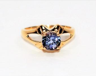 Tanzanite 1.14ct 10kt Yellow Gold Solitaire Women's Ring