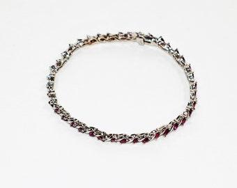 Ruby 3tcw 14kt White Gold Tennis Women's Bracelet