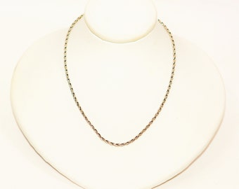 """14kt White Gold 16"""" 5.9 Grams 1.75mm Braided Wheat Chain Necklace"""