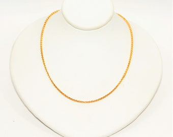 """14kt Yellow Gold 24"""" 1.75mm 7.1 Grams Extra Long Cable Chain Necklace"""