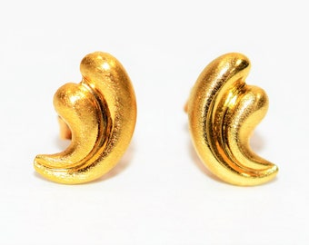 18kt Yellow Gold Fine Fashion Stud Women's Earrings