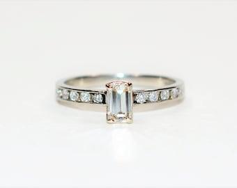 Diamond .72tcw Platinum Pave Engagement Women's Ring