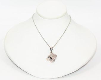 Diamond .06tcw 14kt White Gold Sandal Flip Flop Pendant Women's Necklace