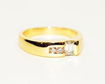 GIA Certified Diamond .52tcw 14kt Yellow Gold Statement Men's Ring