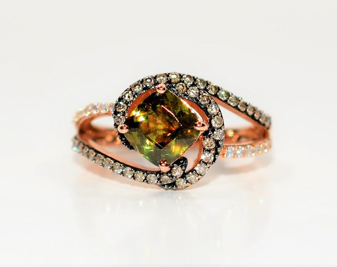 Featured listing image: LeVian Sphene & Diamond 2.28tcw 14kt Rose Gold RARE Limited Edition Pave Statement Women's Ring