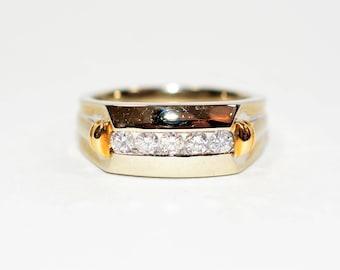 Diamond .50tcw 14kt White & Yellow Gold Two-Tone Men's Estate Ring