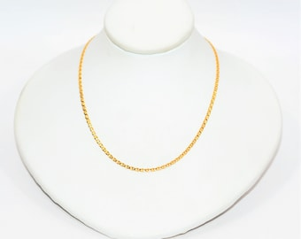 """10kt Yellow Gold 16"""" 1.50mm 1.6 Grams Delicate Mariner Chain Necklace"""