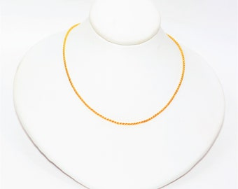 """14kt Yellow Gold 18"""" 1.25mm 3.8 Grams Braided Wheat Chain Necklace"""