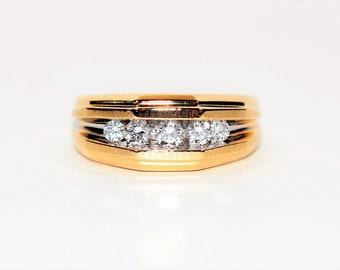 Diamond .50tcw 14kt Yellow Gold Statement Men's Ring