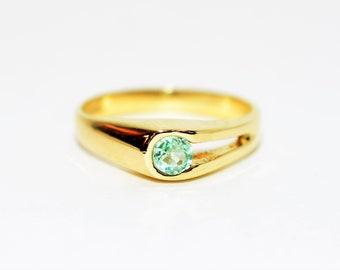 Paraiba Tourmaline .22ct 14kt Yellow Gold Solitaire Gemstone Women's Estate Ring