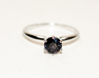 Purple Spinel 1ct 14kt White Gold Solitaire Gemstone Engagement Women's Ring
