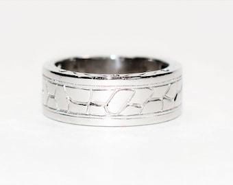 Neil Lane .05tcw Black Diamond 14kt White Gold Wedding Band Men's Ring