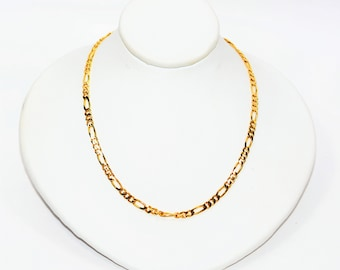 """14kt Yellow Gold 16"""" 3mm 7.3 Grams Figaro Chain Necklace"""