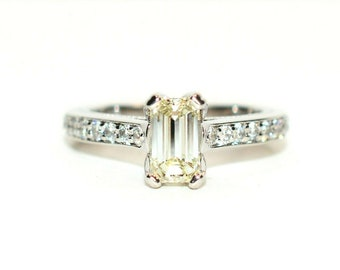 Diamond 1.48tcw 14kt White Gold Pave Engagement Women's Ring
