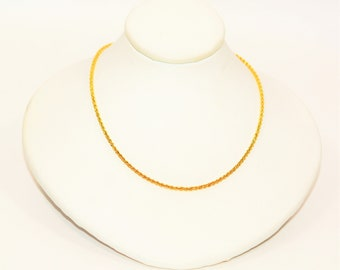 """14kt Yellow Gold 18"""" 1.50mm 4.2 Grams Twist Rope Chain Necklace"""
