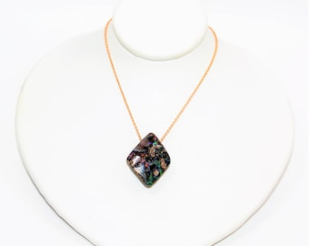 Australian Boulder Opal 21.86ct 14kt Rose Gold Pendant Women's Necklace