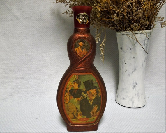 Mid Century Jim Beam Whiskey Bottles Vintage Barware Collectibles Fathers Day Gifts Man Gifts