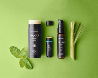 Can-do Hand Sanitizer, Lotion Bar & Lip Balm Travel Set