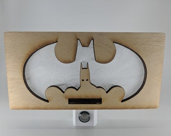 Batman / Bat Signal Inspired Night Light