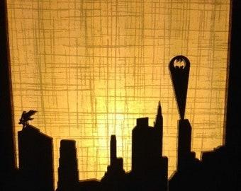 Batman Lamp (Batman, Joker, Catwoman, Gotham)