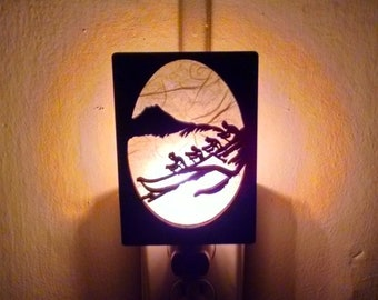 Hawaii beach canoe Night Light