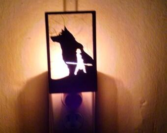 Princess Mononoke and  Moro the giant wolf godess Night Light
