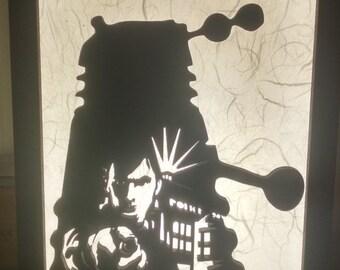 Doctor Who Laser Cut Lamp (The Doctor, Dalek, TARDIS)