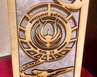 BattleStar Galactica Laser Cut Table Lamp (Starbuck, Cylons, Viper)