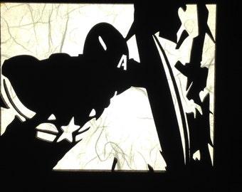 Captain America Lamp (Captain America, Nick Fury, Black Widow, Hawkeye)