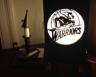 Golden State Warriors inspired lamp