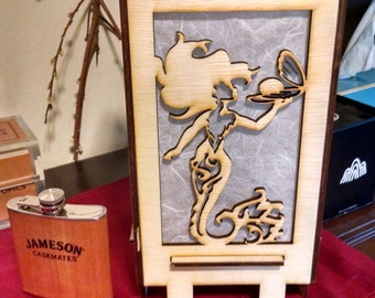Mermaid Laser Cut Lamp