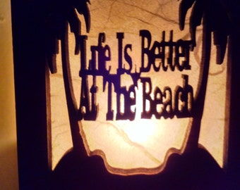 Life is Better at The Beach Night Light