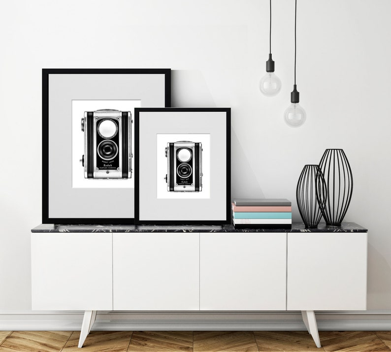 HIPSTER ROOM DECOR Black and white art Rustic industrial ...