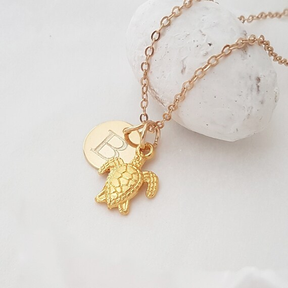 Goldtone Squirrel Custom Engraved Name Ring Crystal Necklace